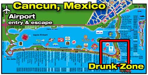 Cancun club drunk strip